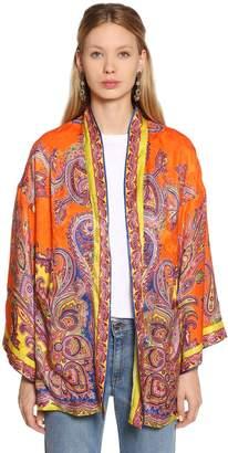 Etro Paisley Printed Silk Jacquard Jacket