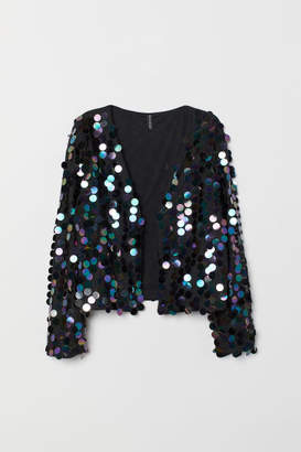 H&M Jacket with Sequins - Black