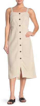 Cotton On Sleeveless Button Front Midi Dress