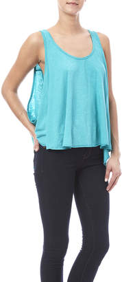 Laundry by Shelli Segal Fresh Turquoise Flow Tank