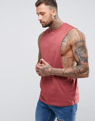 Asos DESIGN Longline Tank with Extreme Dropped Armhole