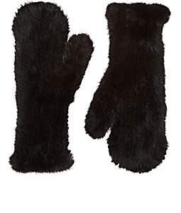 Barneys New York Women's Knitted Mink Fur Mittens-Black