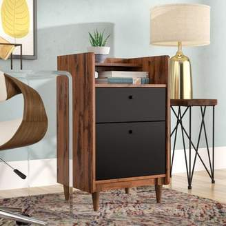 Bronx Ivy Gamma 2 Drawer Vertical Filing Cabinet