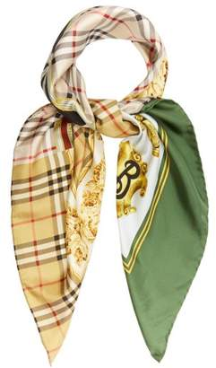 Burberry Archive Print Silk Square Scarf - Womens - Multi