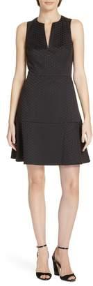 Kate Spade Bakery Dot Jacquard Fit & Flare Dress