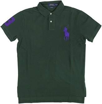 Ralph Lauren Polo Men's Custom-Fit Big Pony Mesh Polo Shirt