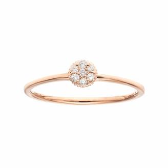 Lauren Conrad 10k Gold Diamond Accent Flower Ring