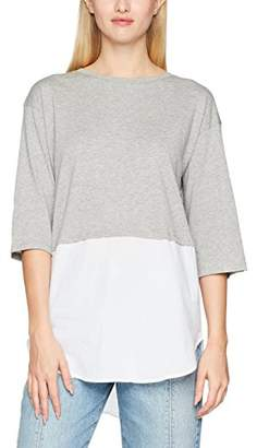 Jennyfer Women's TSH17ACBIMAT Long-Sleeved Top