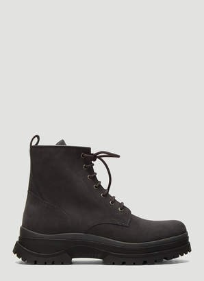 Moncler Ulysse Suede Boots in Grey