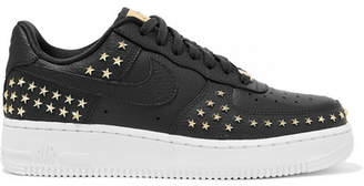 Nike Air Force 1 '07 Lx Embellished Textured-leather Sneakers - Gray