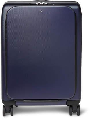 Montblanc Nightflight Leather-Trimmed Hardshell Carry-On Suitcase