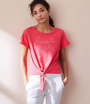 Lou & Grey Sundry Locals Only Front Tie Tee