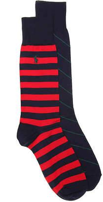 Polo Ralph Lauren Bar Stripe Crew Socks - 2 Pack - Men's