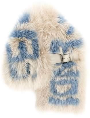 Fendi fox fur logo collar