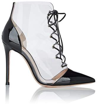 Gianvito Rossi Women's PVC & Patent Leather Lace-Up Ankle Boots