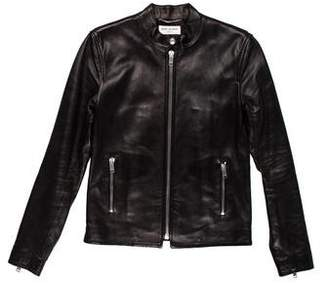 Saint Laurent Leather Cafe Jacket