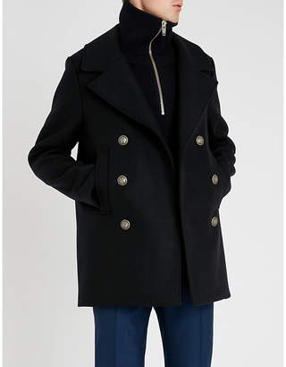 The Kooples Double-breasted notch-lapel wool jacket