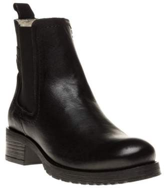 Sole New Womens Black Verity Leather Boots Ankle Elasticated Pull On