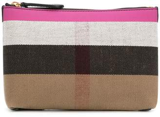 Burberry check zipped pouch