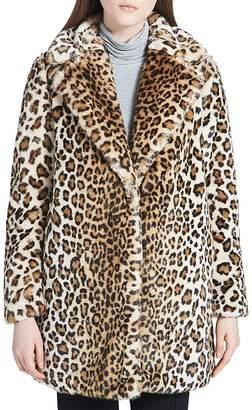 Calvin Klein Faux-Fur Leopard Coat $355 thestylecure.com