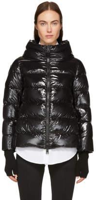 Herno Black Three-Quarter Sleeve Down Jacket