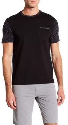 Calvin Klein Jeans Short Sleeve Contrast Neck Colorblocked Tee