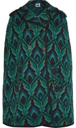 M Missoni Metallic Intarsia Wool-Blend Cape