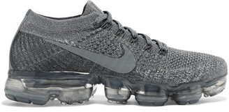 Nike - Nikelab Air Vapormax Flyknit Sneakers - Gray $190 thestylecure.com