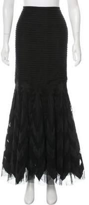 Ralph Lauren Purple Label Layered Maxi Skirt