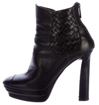 Bottega Veneta Bottega Veneta Leather Platform Ankle Booties