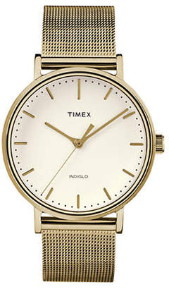 Timex BOUTIQUE Fairfield Goldtone Mesh Analog Watch