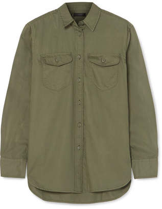 J.Crew Oversized Cotton-twill Shirt - Green