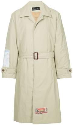 Martine Rose back print single breasted coat
