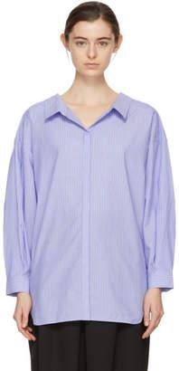 Enfold Blue Cluster Stripe Twisted Shirt