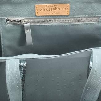 Vanessa Bruno Canvas and Sequins Medium + Tote Bag in Nuage Cotton