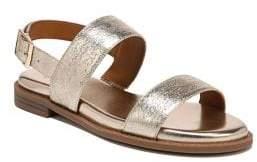 Franco Sarto Velocity Crackle Metallic Leather Sandals