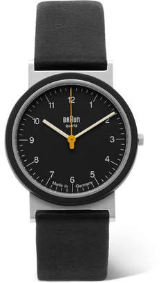 Braun AW 10 Stainless Steel and Leather Watch