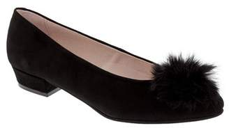 Patricia Green Sandy Genuine Rabbit Fur Pompom Flat