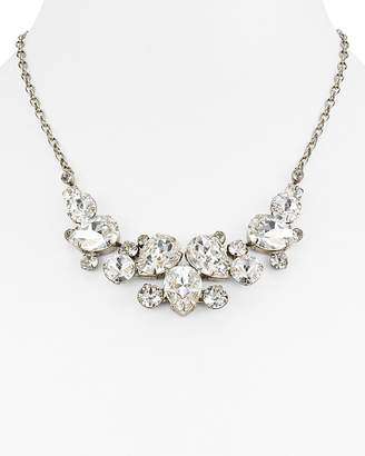 "Sorrelli Swarovski Crystal Bib Necklace, 15"""