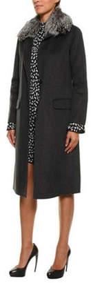 Michael Kors Wool Coat-Fur Trim