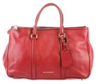 Burberry Leather Top Handle Satchel