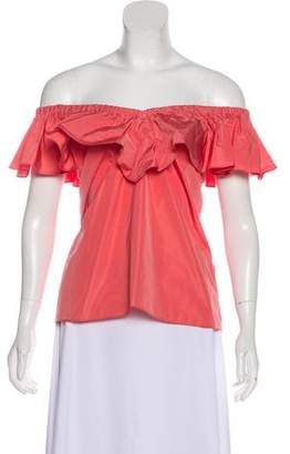 Rebecca Taylor Off-The-Shoulder Ruffled Top w/ Tags