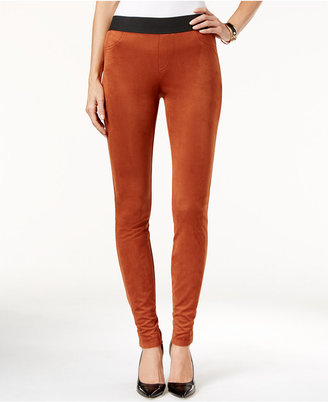 INC International Concepts Faux-Suede Leggings, Only at Macy's $79.50 thestylecure.com