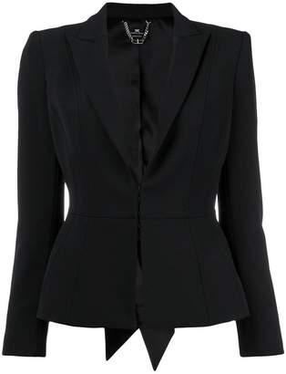 Elisabetta Franchi concealed front blazer