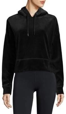 Calvin Klein Cropped Long-Sleeve Hoodie
