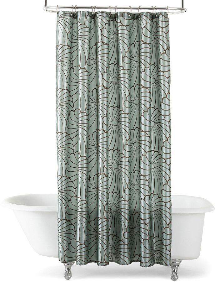 Royal Velvet Olivia Embroidered Shower Curtain