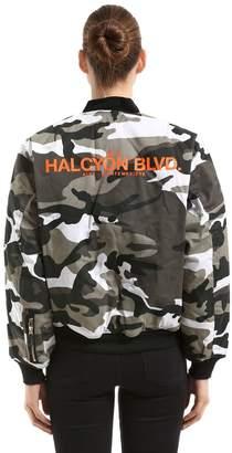 Reversible Camouflage Bomber Jacket