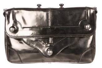 CNC Costume National Metallic Leather Clutch