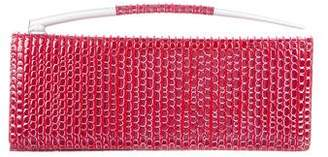 Charles Jourdan Embossed Leather Clutch