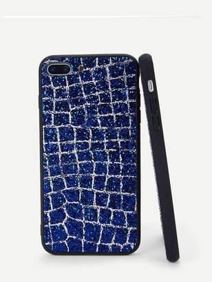 36967118f8 Shein Glitter Plaid Design iPhone Case